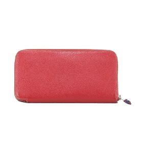 Wallet Silk in Red Epsom