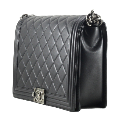 Large Quilted Boy in Black RHW