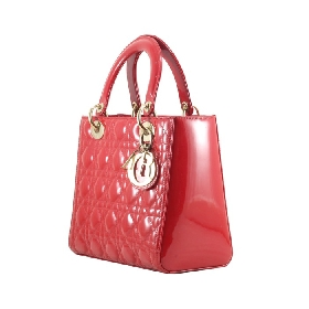 Lady Dior in Red Patent Leather GHW