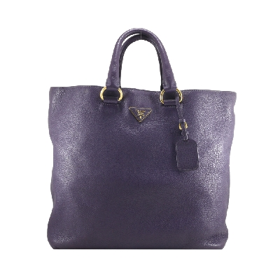 Tote Bag in Purple Leather