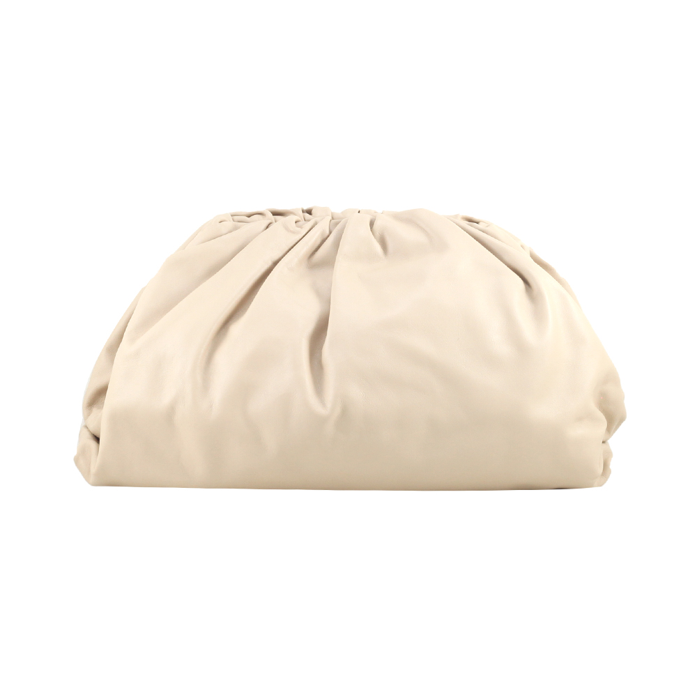 The Pouch Soft Oversize Clutch  Almond