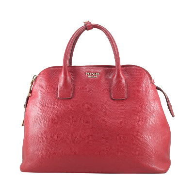 Double Zipper Red Leather Bag