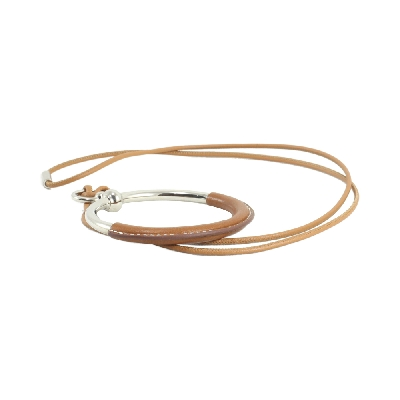 Grand Loop Necklace in Brown SHW