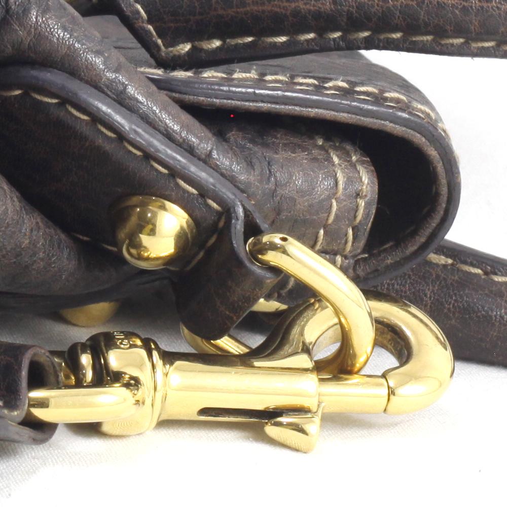 Pelham Dark Brown GG Ssima Leather