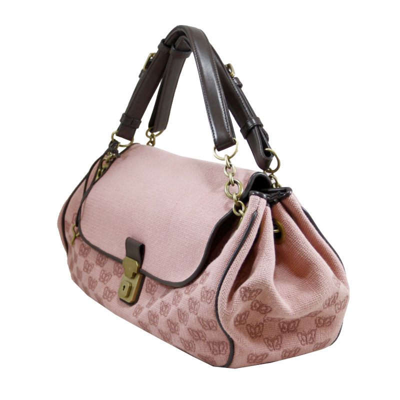 Butterfly Canvas Bag in Pink