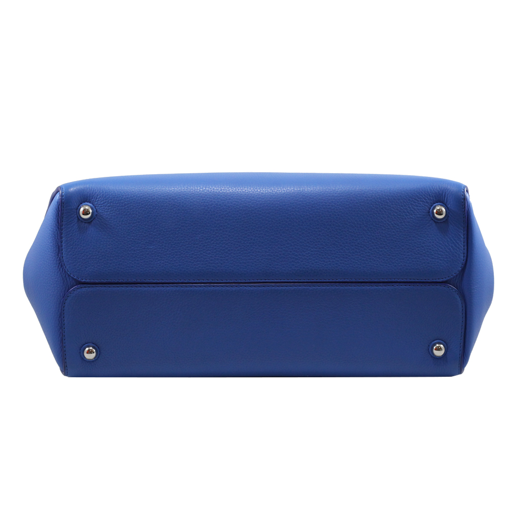 Bar Grain Calf in Blue