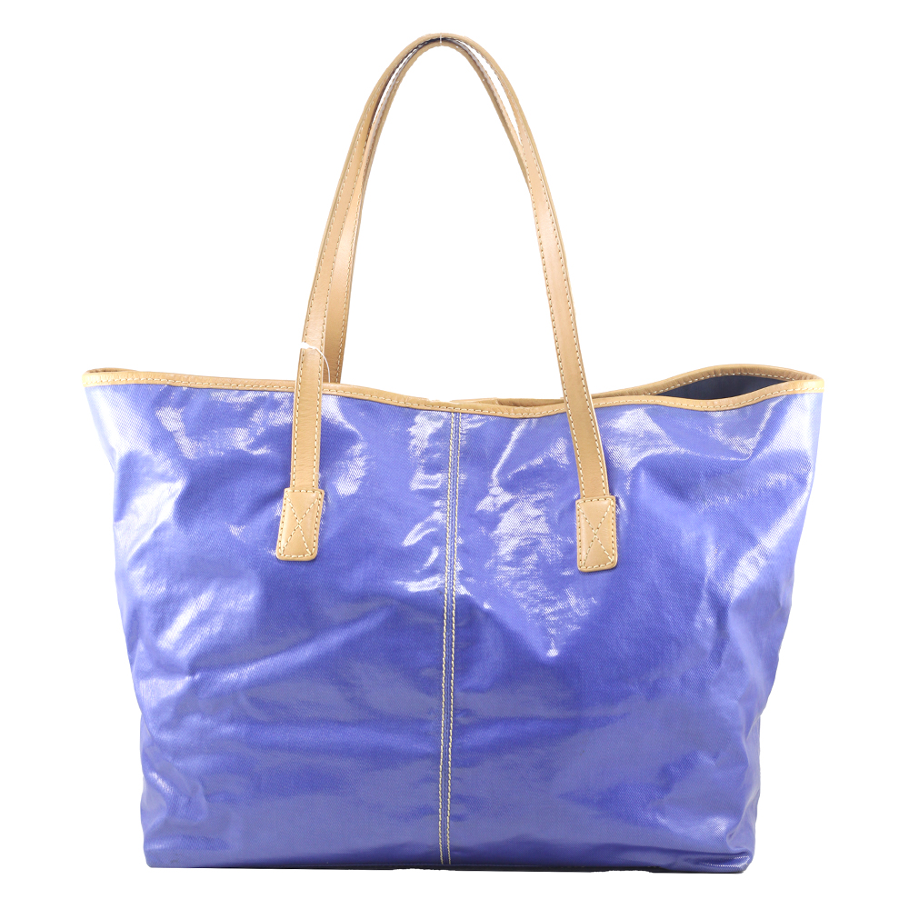 Shopping Bag in Blue Canvas