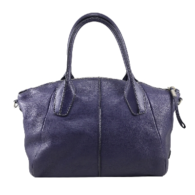 Handbag in Blue Leather