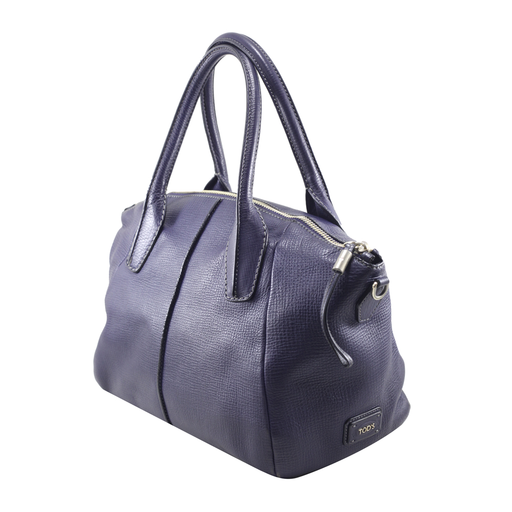 Handbag in Blue Leather