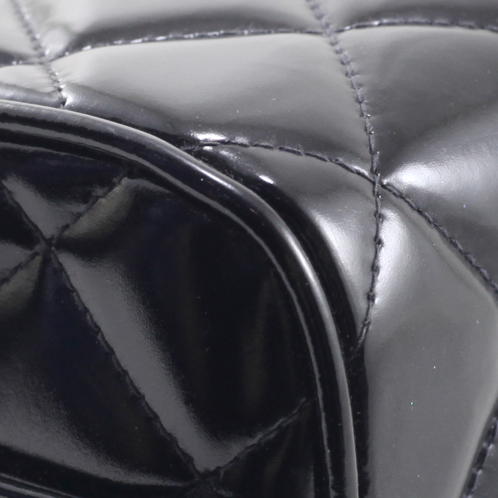 Box in Black Patent Leather